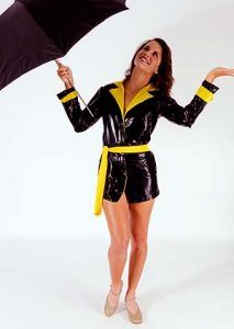 YELLOW & BLK RAINCOAT