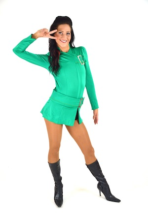 GREEN BUCKLE DRESS