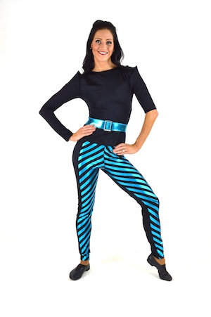 BLACK AND BLUE PANT SET