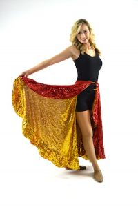 RED AND YELLOW GOLD FIELD SKIRT