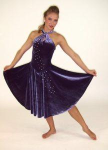 BLUE VELVET DRESS.