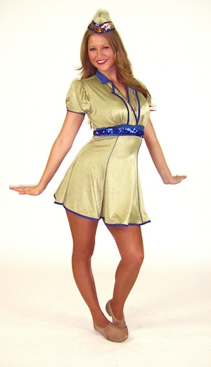 GOLD SAILOR COSTUME.