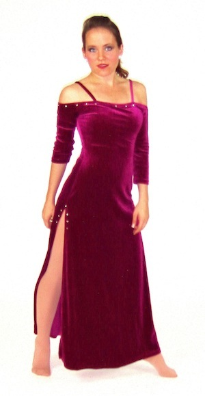 LONG MAGENTA DRESS