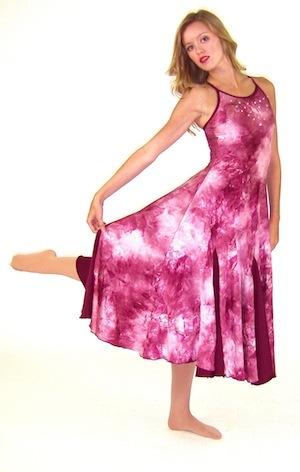 MAROON TIE-DYE DRESS