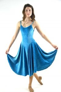 VELVET SPARKLE TURQUOISE DRESS