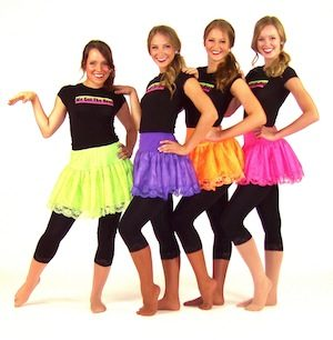 """WE GOT THE BEAT"" SHIRT WITH NEON SKIRT AND LEGGINGS"