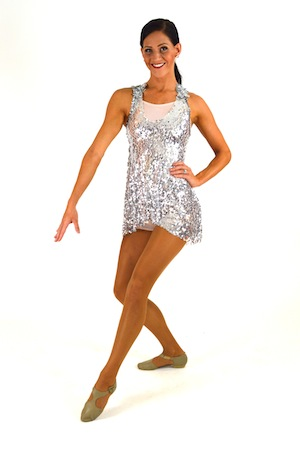 SEQUIN DRESS WITH BIKETARD