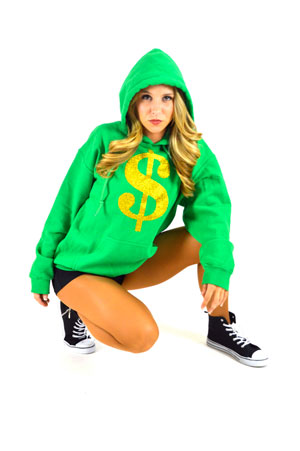 GREEN $ HIP HOP HOODIES