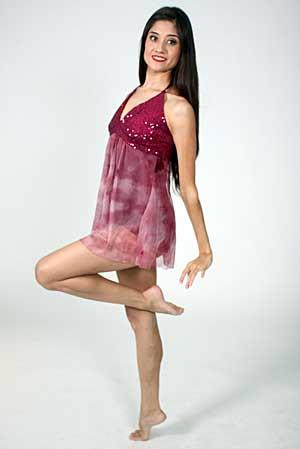 MAROON LYRICAL DRESS