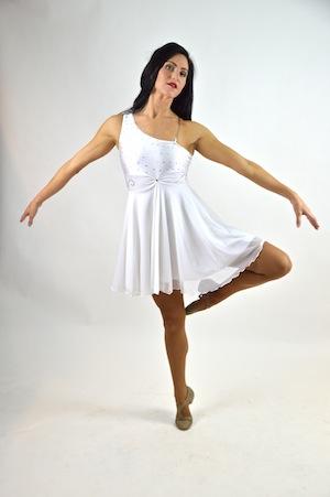 WHITE ONE SHOULDER DRESS..