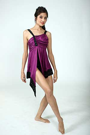PURPLE LEOTARD DRESS