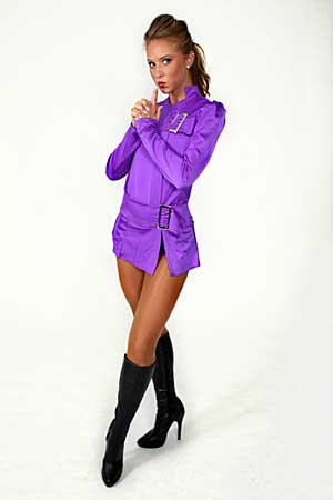 PURPLE BUCKLE DRESS