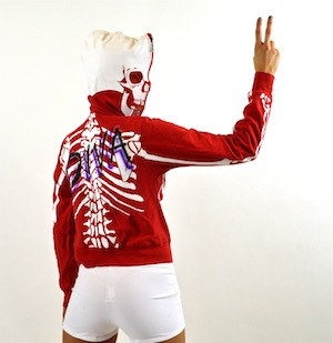 RED SKELETON HIP HOP JACKET