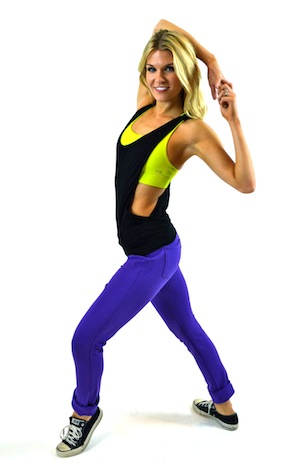 PURPLE, BLACK, AND LIME HIP HOP SET