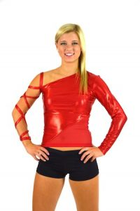 RED ONE SLEEVED TOP