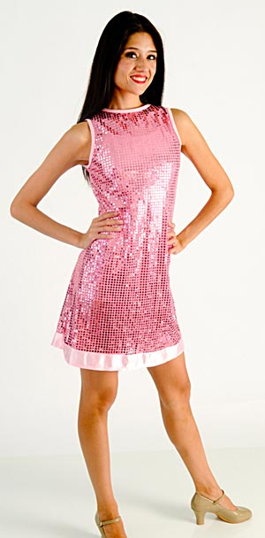 PINK SEQUINED DRESS