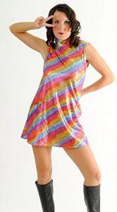 METALLIC RAINBOW DRESS
