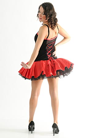 BLACK AND RED PETTICOAT DRESS