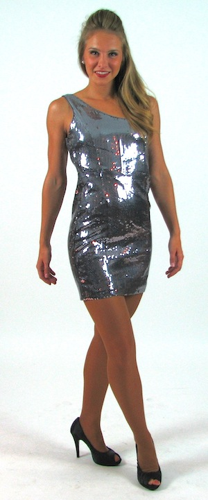 SILVER SEQUIN DRESS..