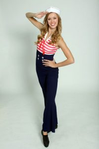 SAILOR PANT SET WITH HAT