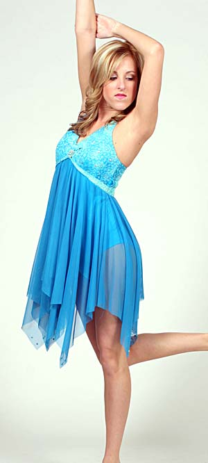 BLUE AND TURQUOISE DRESS