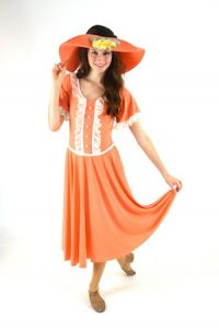 SOUTHERN BELLE PEACH DRESS AND HAT