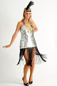 SEQUINED FLAPPER DRESS