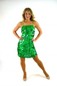 GREEN HOLOGRAM DRESS