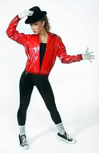 RED MICHAEL JACKSON JACKET WITH PANTS, GLOVES AND SOCKS