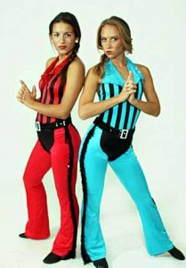 RED & BLACK, BLUE & BLACK UNITARDS