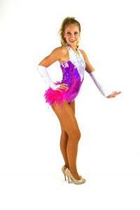 SILVER AND PURPLE AND PINK SHOW GIRL