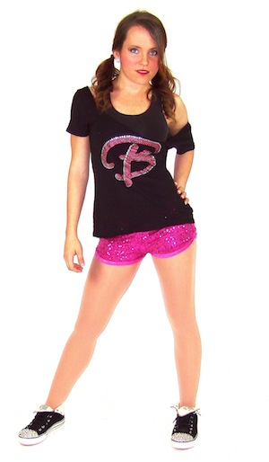 BARBIE TEE AND SPARKLE SHORTS