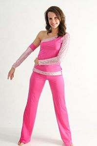 PINK SEQUIN SET WITH ONE GLOVE