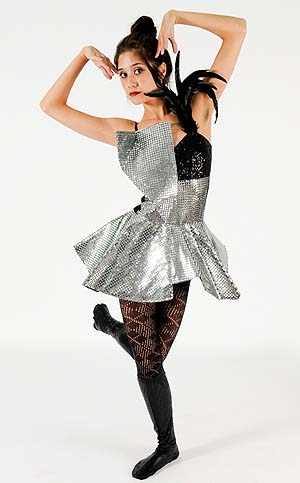 BLACK & SILVER LADY GAGA DRESS