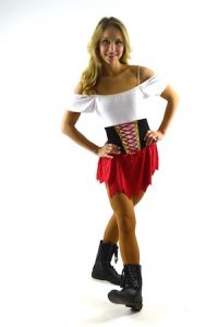 RED, BLACK, AND WHITE PIRATE OUTFIT