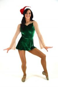 GREEN VELVET HOLIDAY DRESS