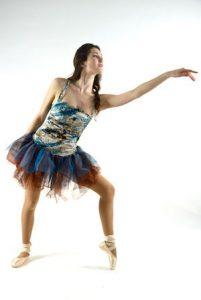 BROWN AND BLUE TUTU DRESS