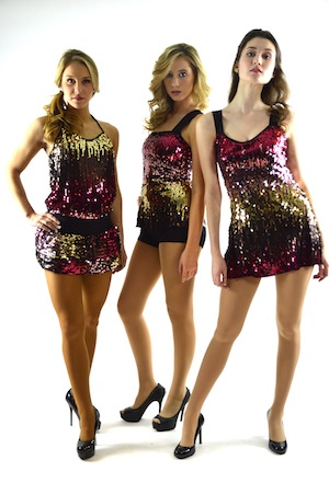 ASSORTED ORANGE AND PINK SEQUIN OUTFITS