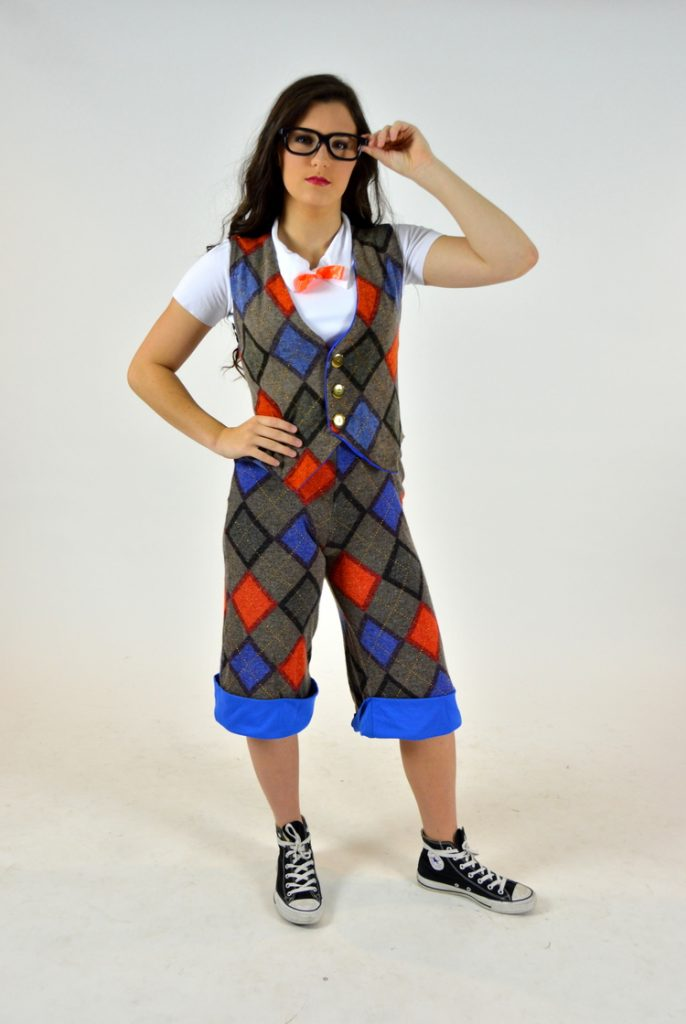 Newsies Argyle Vest And Knickers With Suspenders The