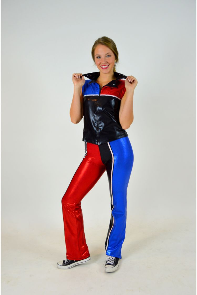 Red blue and black 2 piece outfit the costume closet 1 2 sciox Choice Image