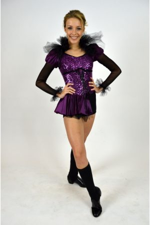 f79df42ed BLACK AND PLUM ROYAL BIKETARD | The Costume Closet